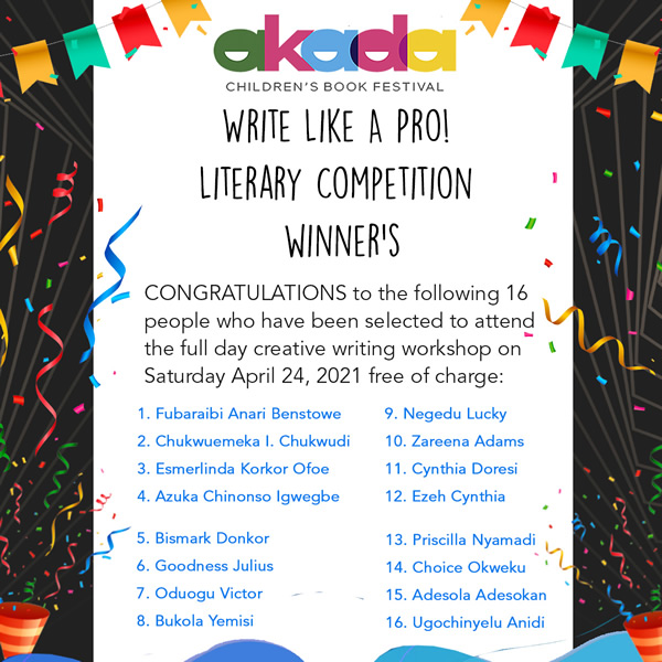 Akada Literary Competition Winners 2021